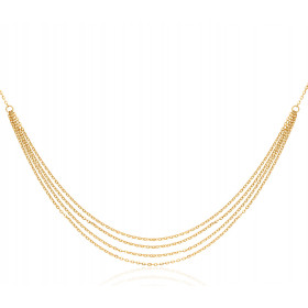 Chaine or jaune 18 carats forçat multi-rangs 42 cm