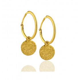 Boucles d'oreilles or jaune 18 carats créoles grabatore