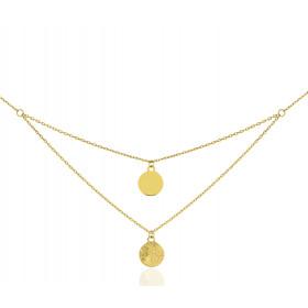 Chaine or jaune 18 carats forçat multi-rangs 45 cm grabatore