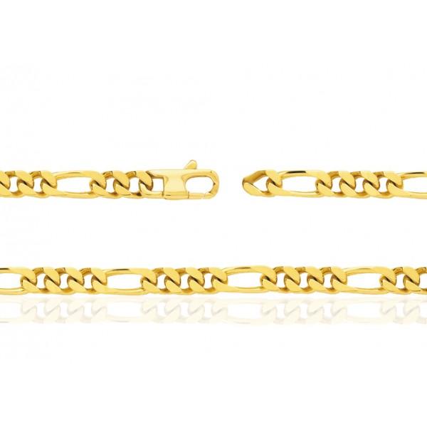 remise chaude achats mode de luxe Chaine or jaune 18 carats 50 cm - largeurs de 1,4 à 6 mm
