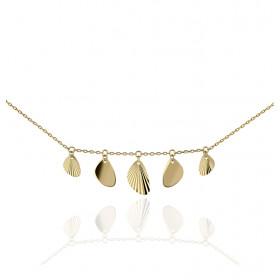 Chaine or jaune 18 carats et pampilles diamantées