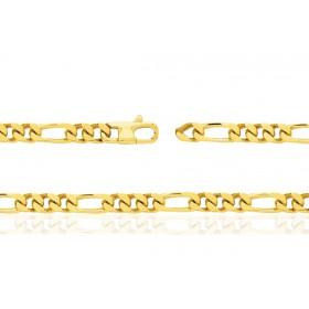 chaine or jaune 18 carats maille cheval alternée triple pour femmes