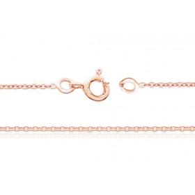 chaine or rose 18 carats maille forçat pour femmes