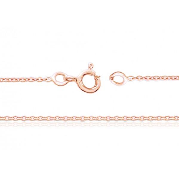 achats profiter du prix de liquidation magasin officiel Chaine or rose 18 carats 80 cm - largeurs de 1,00 à 1,4 mm