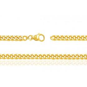 chaine or jaune 18 carats maille gourmette pour femmes