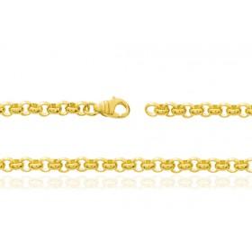 chaine or jaune 18 carats maille jaseron pour femmes