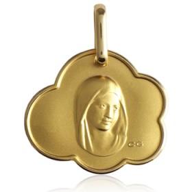 Médaille religieuse or jaune 18 carats vierge