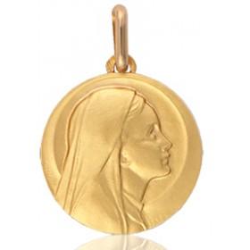 médaille or 18 carats de la vierge 12 mm