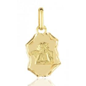 """médaille """"ange sr parchemin"""" en or 18 carats"""