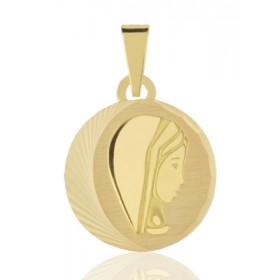 médaille or 18 carats de la vierge 15 mm