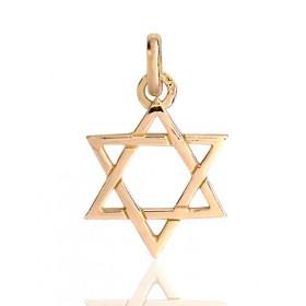 médaille étoile de david en or 18 carats