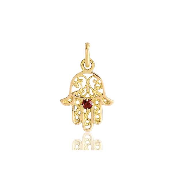 ~ 14k or Jaune Fatma//Main de Dieu Pendentif breloque pour collier ou Chaîne