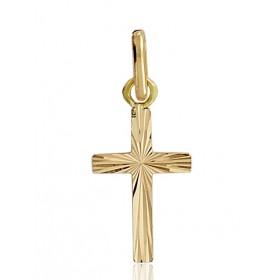 Pendentif croix or 18 carats 16 X 10 mm