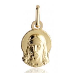 médaille religieuse en or 18 carats du Christ découpée