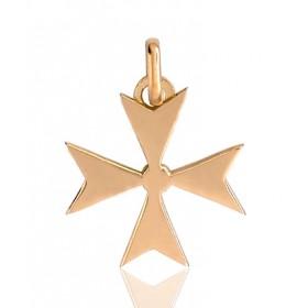 "Pendentif or 18 carats ""croix de Malte"""
