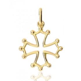 """Pendentif or 18 carats """"croix occitane"""""""