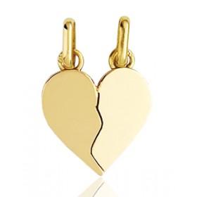 """Pendentif or 18 carats """"cœur à partager"""""""