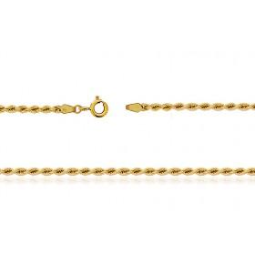 Chaine de cheville or 750/1000 maille corde