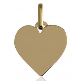 Pendentif or jaune personnalisable cœur à graver.