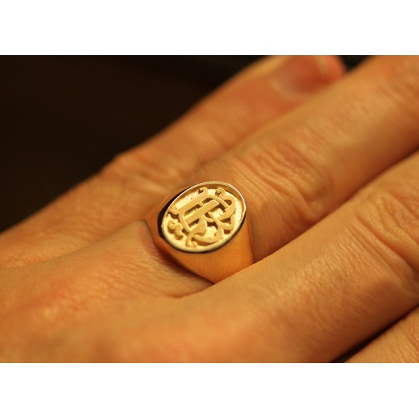 chevalière pour homme en or 18 carats personnalisable pour hommes