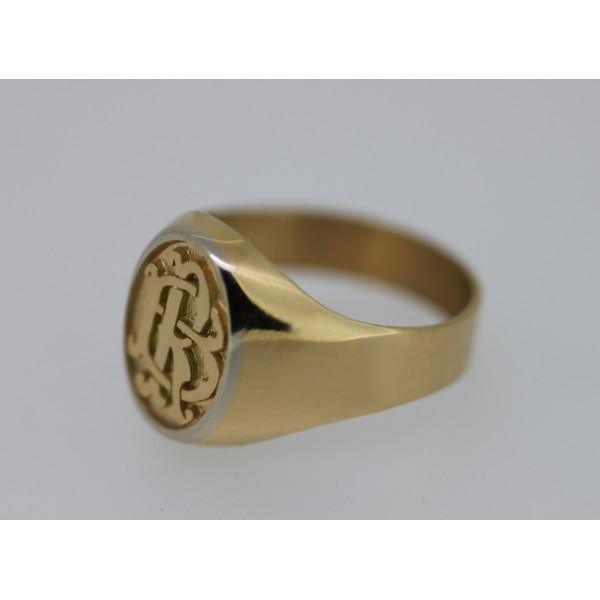 chevalière en or avec initiales pour hommes