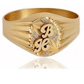 Chevaliere ovale en or 750/1000 personnalisable  pour femme