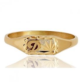 Chevaliere en or 750/1000 rectangulaire personnalisable pour femme