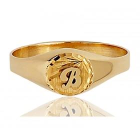 Chevaliere en or 18 carats personnalisable pour femmes