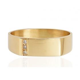 Chevalière or 18 carats et diamants pour femme