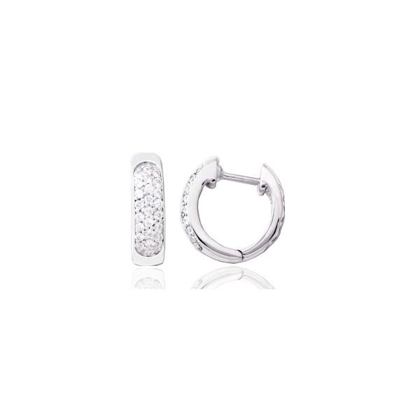 créoles or blanc et diamant0,25 carat