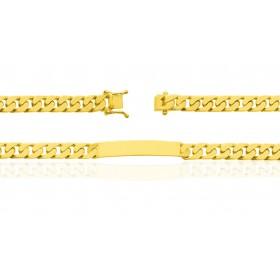 gourmette identité pour homme en or jaune 18 carats massif maille gourmette personnalisable
