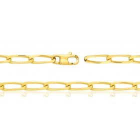 Gourmette or jaune 18 carats maille cheval 6 mm