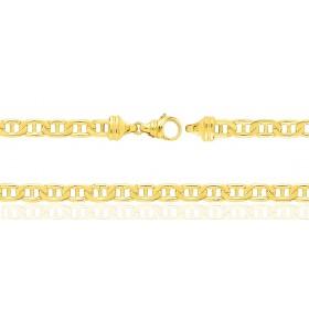 Gourmette or jaune 18 carats maille bâton