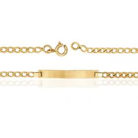 Gourmette identité en or jaune 18 carats maille ovale personnalisable