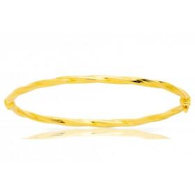 Jonc or jaune 18 carats torsadé