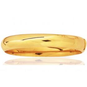 Jonc or jaune 18 carats pour femmes