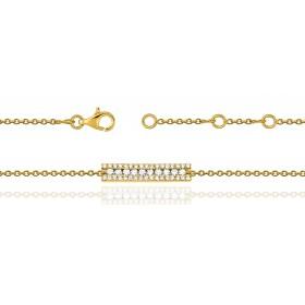 Bracelet ajustable en or 18 carats et diamants pour femmes