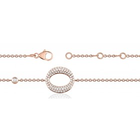 Bracelet ajustable en or rose 18 carats et diamants pour femmes