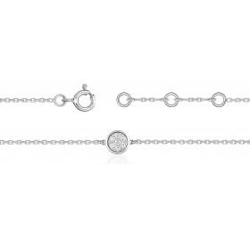 Bracelet ajustable en or 18 carats et diamants 0,04 6carat pour femmes