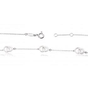 Bracelet ajustable en or blanc 18 carats et diamants pour femmes