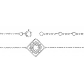 Bracelet ajustable en or 18 carats et diamants 0,02 carat pour femmes