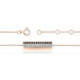 Bracelet ajustable trois ors 18 carats et diamants 0,12 carat pour femmes