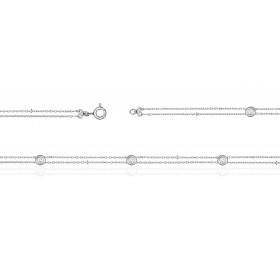 Bracelet ajustable en or 18 carats et diamants 0,19 carat pour femmes