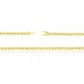 Bracelet ajustable en or 18 carats et diamants 0,50 carat pour femmes
