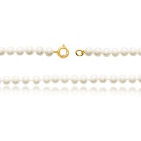 bracelet or 18 carats et perles de culture 4,5 mm