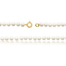 bracelet or 18 carats et perles de culture 6,5 mm