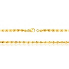 Bracelet or jaune 18 carats maille corde pour femmes