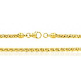 Bracelet or jaune 18 carats maille spiga pour femmes