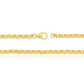 Bracelet or jaune 18 carats maille jaseron pour femmes
