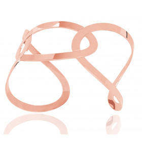 Bracelet manchette en or rose 18 carats pour femmes